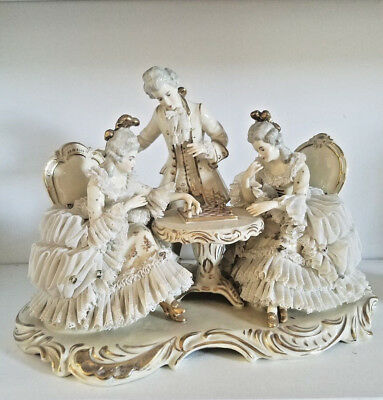 Beautiful Antique Large Dresden Figurine