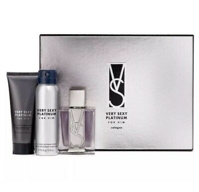 bf2f38c433 VS Victoria s Secret Very Sexy Platinum For Him 3 Piece Cologne Men s ...