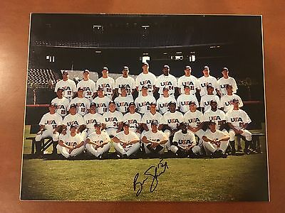 2000 OLYMPIC USA BASEBALL TEAM PHOTO signed by BEN SHEETS GOLD MEDAL