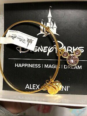 239015d16a21a DISNEY MICKEY MOUSE Birthstone Bangle by Alex and Ani June Gold Finish New