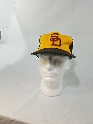a0e65ab922600 San Diego Padres Hat Vintage Sports Specialties YoungAn MLB Trucker Snapback  Cap
