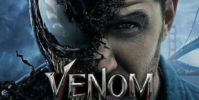 "VENOM (DVD-2018,1-Disc) Region 2.Tom Hardy.""THE WORLD HAS ENOUGH SUPERHEROES"""