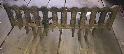 Antique Vintage Ornate East Lake Cast Iron Fireplace Grate Insert Log Holder