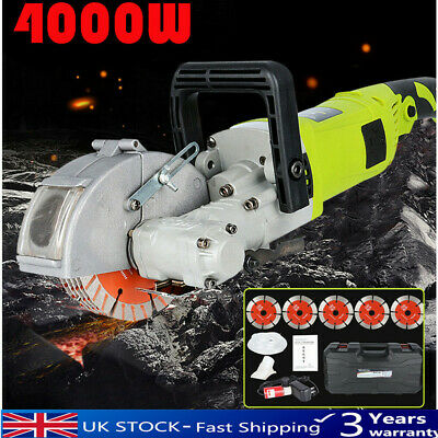 220V Electric Wall Chaser Groove Cutting Machine Wall slotting Slot Cutter 4000W