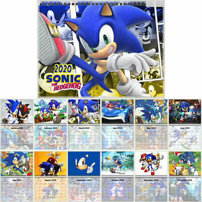 Sonic the Hedgehog Wall Calendar Year 2020 12 Month
