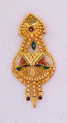 Gold Earring Pair 22K Jewelry Traditional Wedding Filigree Jewelry Antique