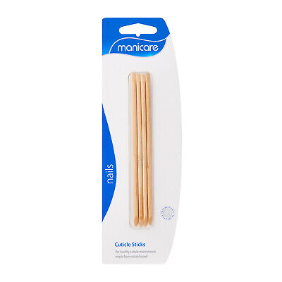 Manicare 4X Cuticle Sticks Natural Wood Essential For Healthy Cuticles