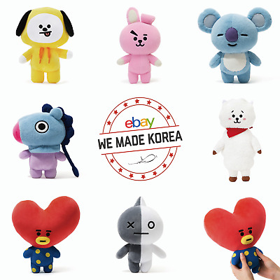 BTS BT21 Character Plush Standing Doll Medium Size K-Pop Official Authentic MD
