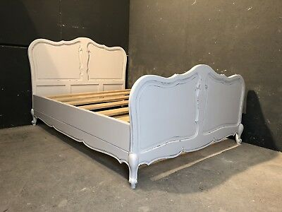 Vintage French King size bed/ Painted French bed (VB348)