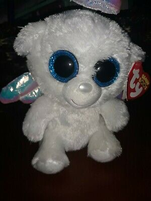 ec8fe15da98 TY BEANIE BABY ~ HALO 2 the Angel Bear ~ MINT with MINT TAGS ...