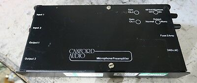Canford 2 channel microphone pre amplifier