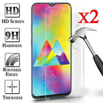 2pcs For Samsung Galaxy A50 70 M30 Clear 9H Tempered Glass Screen Protector Film