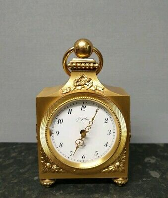 """Angelus """"Carillon"""" Brass 8 Day Clock with Strike & Jewelled Lever Movement"""