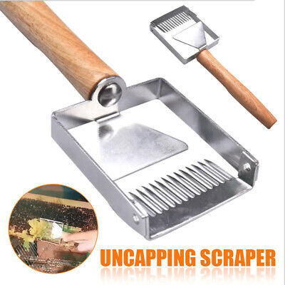 Stainless  steel bee hive uncapping honey fork scraper shovel beekeeping tool PB