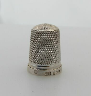 Antique Hallmarked Silver Sewing Thimble James Fenton Number 8 C1912 Birmingham