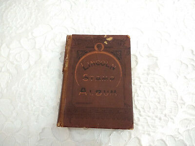 Vintage Lincoln Stamp Album With Worldwide 500+ Stamps