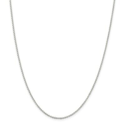 925 Sterling Silver 1.5mm Rolo Chain Necklace 18 Inch Pendant  Mothers Day Gifts