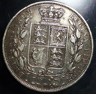 1881 UK (Great Britain) HALF CROWN .