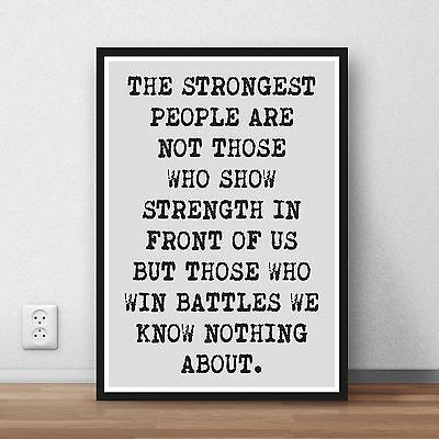 Inspiration Motivation Poster print wall art fitness gym exercise quote