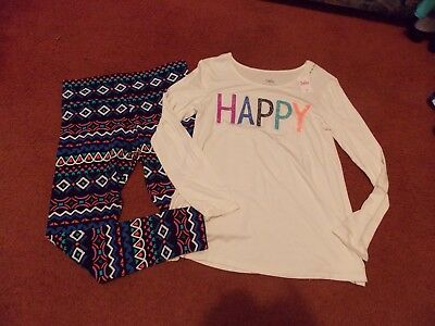 justice girls size -16.5 plus--2 piece top and legging set--nwt---HAPPY