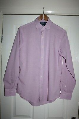 Polo By Ralph Lauren Mens Pink Check Shirt Custom Fit, Lightweight Cotton Size S