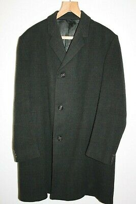 Hardy Amies By Hepworth Vintage Mens Heavyweight Wool & Llama Coat Size 42 Vgc