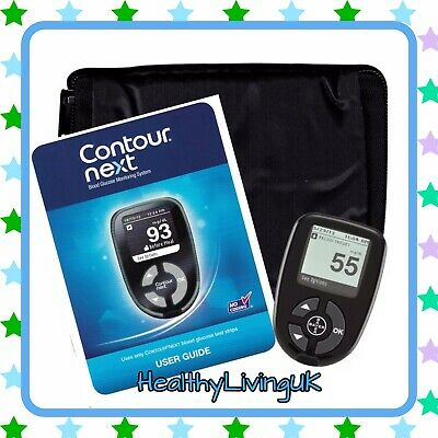 Contour Next Blood Glucose Meter - Bayer - For Diabetics - Meter + Manual + Case