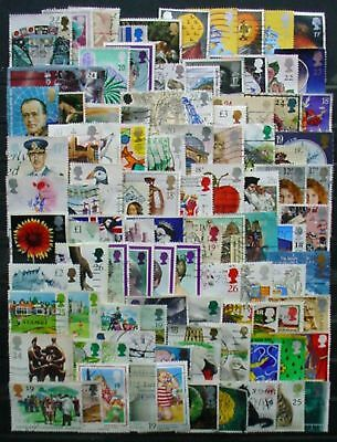 200 Different Great Britain Used Stamps: