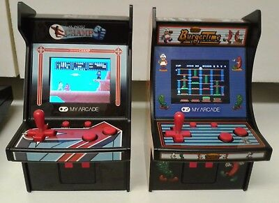 "MY ARCADE - Karate Champ & BurgerTime  6"" Retro mini handheld + Pac man arcade"