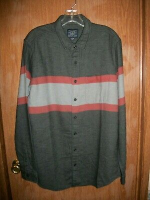 NWT AMERICAN EAGLE MULTICOLOR SOFT FLANNEL SHIRT SIZE LARGE TALL, LT Ret $58.00