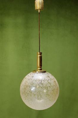 Mid-Century Modern Ice glass Globe Pendant Germany, 1970s
