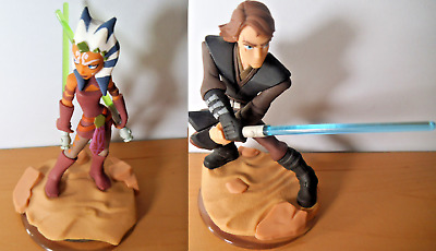 Anakin Skywalker + Ahsoka Tano Disney Infinity 3.0 Star Wars Figures Save £2 Mul