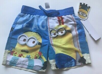 3535cc33d59ee F&F Tesco boys swimming shorts Minions Despicable me new + tags age 2-3  years