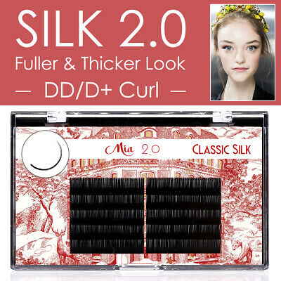 DD/D+ Curl Silk Eyelash Extension Semi Permanent Individual Lashes 0.05-0.25