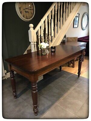 Antique Victorian Solid Mahogany Large Table
