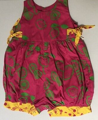 One Piece Boutique 18 Months Romper Girls Fruit Pink Lime Yellow Baby Cotton