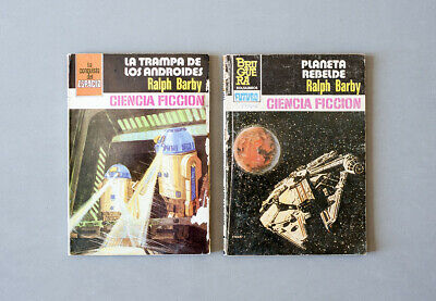 1978-1984 Star Wars vintage spanish bootleg knockoff book novel - set of 2