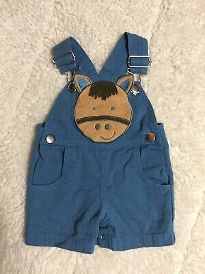 Mud Pie Tugboat Chambray Overalls w// Tugboat and Seagull Applique