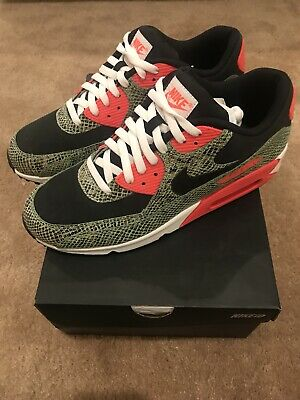 e8180e7971 Nike Air Max 90 ID Size 11 Snakeskin Atmos Cement Pink Powerwall BRS