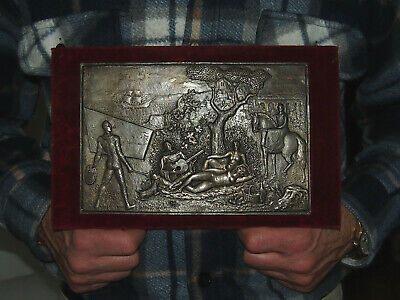 Good Bronze Art Deco Plaque By Pierre Turin Home Defense 1938 Shooting Contest 68mm A Great Variety Of Models Medals