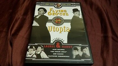 Laurel and Hardy - Flying Deuces, The / Utopia (DVD) Double Feature) LIKE NEW!