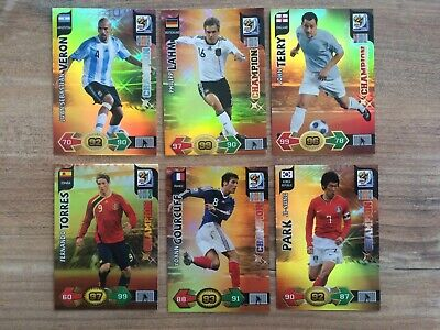 Panini Adrenalyn XL World Cup South Africa 2010 Champion Cards Select
