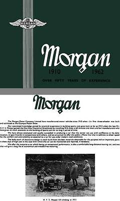 Morgan 1962 - Morgan 1910 - 1962 Over Fifty Years of Experience