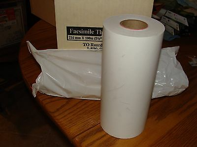 """Two (2) Rolls Facsimile Thermal Fax Paper 8.5"""" X 328' Each Roll"""