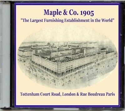 1905 Maple & Co. Catalogue on CD, London, Victorian furniture and a lot more