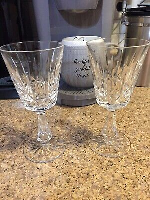 Waterford Sherry Wine Lismore Glasses Set Of 2 Wine Glasses Ireland Crystal