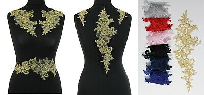 1 x Extra Large Lace Applique Wedding Motif Sew On  7 Different Colour #41