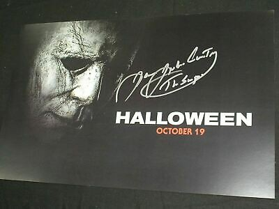 Entertainment Memorabilia Movies United James Jude Courtney Signed Halloween Movie Poster Coa Proof Michael Myers A 2018