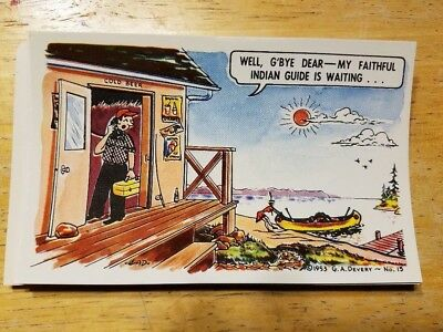 25 VINTAGE COLORFUL  HUMOROUS POSTCARDS LOT of 25