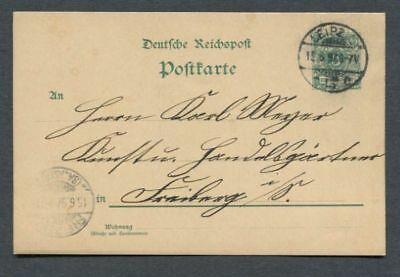 German Reich : Classic stationary from 1897 - Leipzig - used